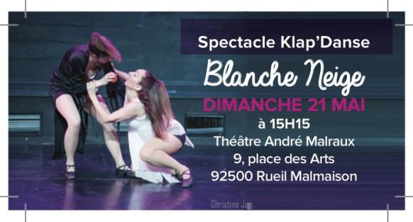 Spectacle de danse moderne et claquettes le 21 mai
