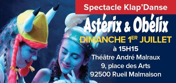 Spectacle Astérix et Obélix dimanche 1er juillet à 15h15 au théâtre André Malraux